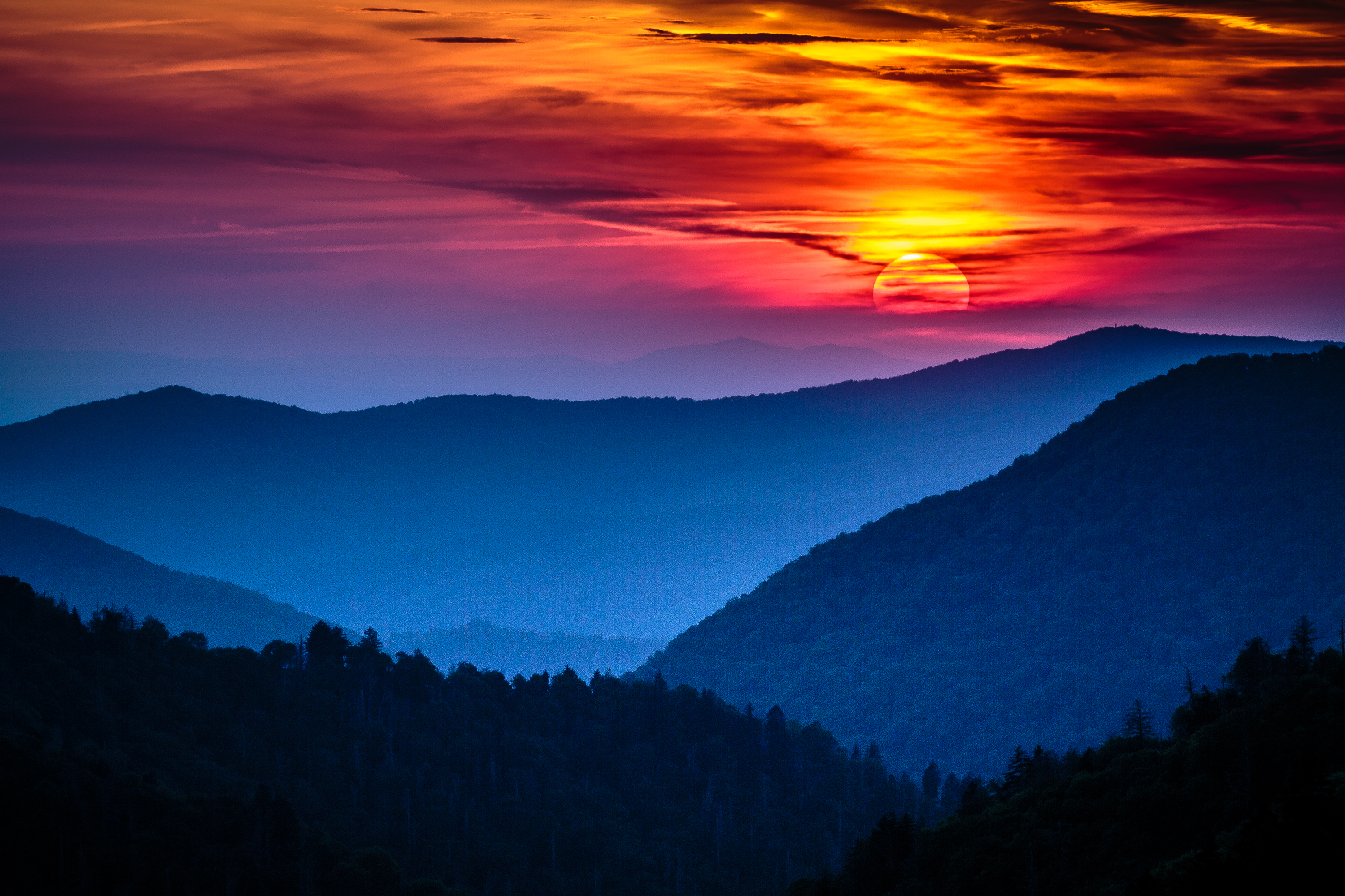 smoky-mountains-sunset